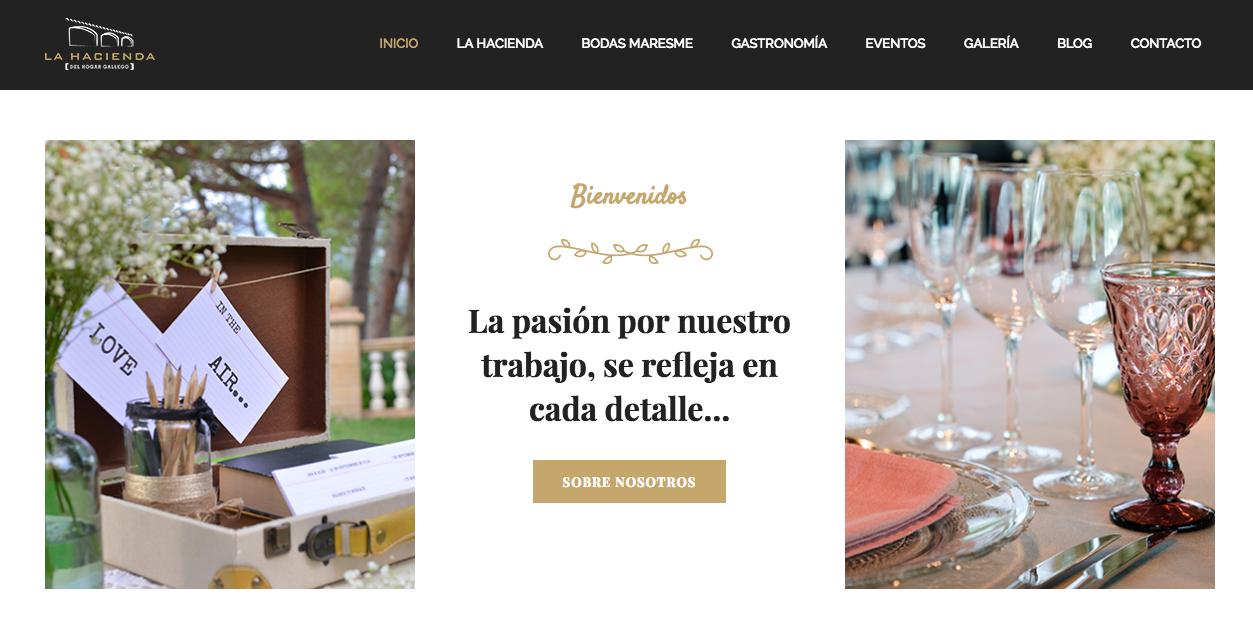 Home web: Bienvenida